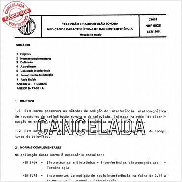 NBR9028 de 09/1985