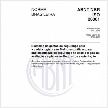 NBRISO28001 de 07/2011