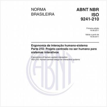 NBRISO9241-210 de 08/2011