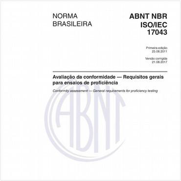 NBRISO/IEC17043 de 08/2011