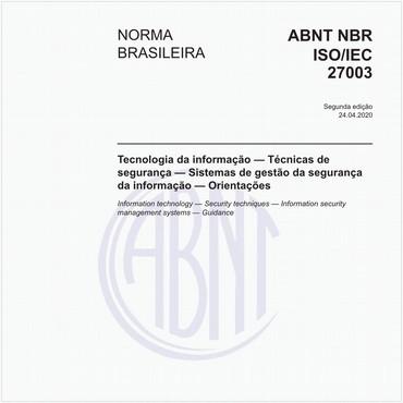 NBRISO/IEC27003 de 04/2020