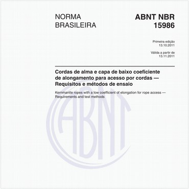 NBR15986 de 10/2011