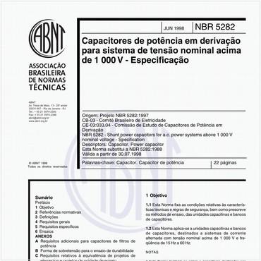 NBR5282 de 06/1998