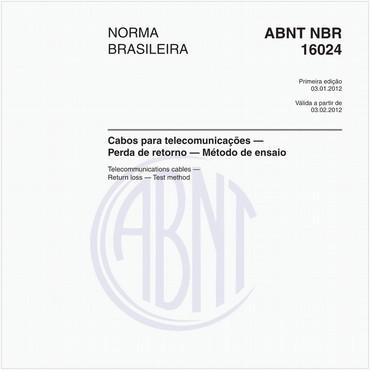 NBR16024 de 01/2012
