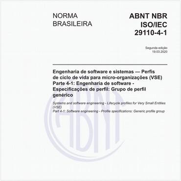 NBRISO/IEC29110-4-1 de 03/2020