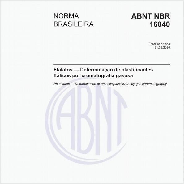 Ftalatos — Determinação de plastificantes ftálicos por cromatografia gasosa