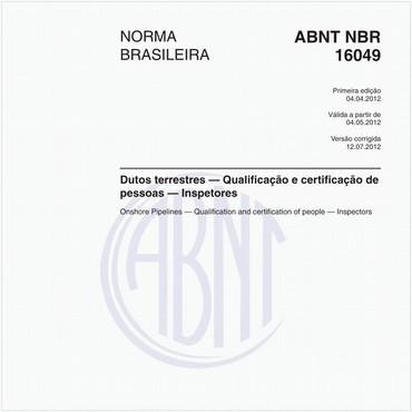 NBR16049 de 04/2012