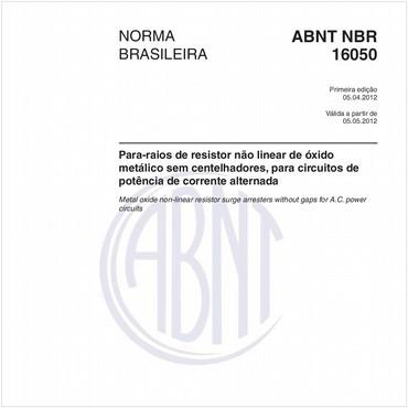 NBR16050 de 04/2012