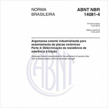NBR14081-4 de 04/2012