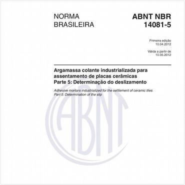 NBR14081-5 de 04/2012