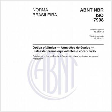NBRISO7998 de 04/2012