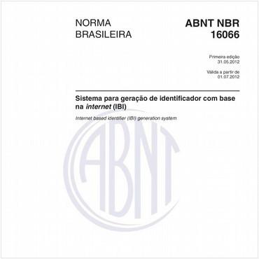 NBR16066 de 05/2012