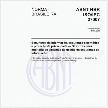 NBRISO/IEC27007 de 07/2018