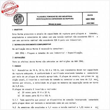 NBR7850 de 04/1983