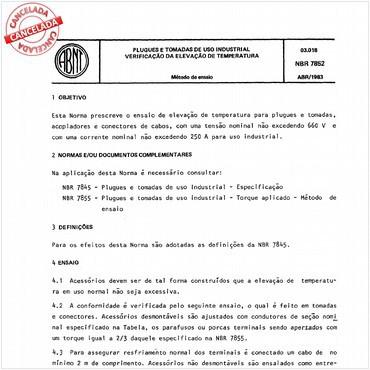NBR7852 de 04/1983