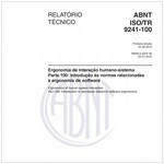 ABNT ISO/TR9241-100