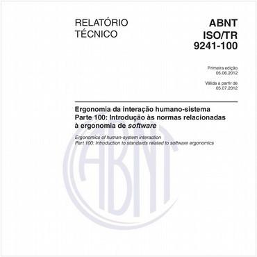 ABNT ISO/TR9241-100 de 06/2012