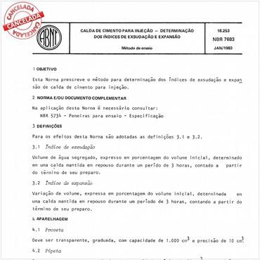 NBR7683 de 01/1983