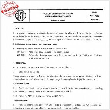 NBR7685 de 01/1983