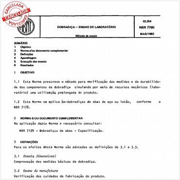 NBR7780 de 03/1983