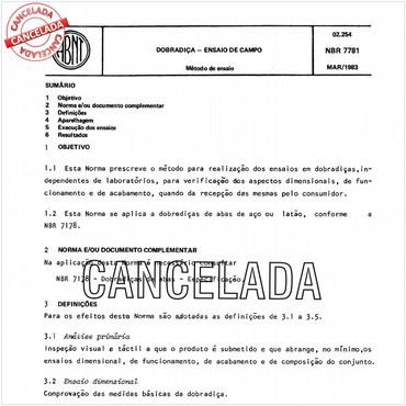 NBR7781 de 03/1983