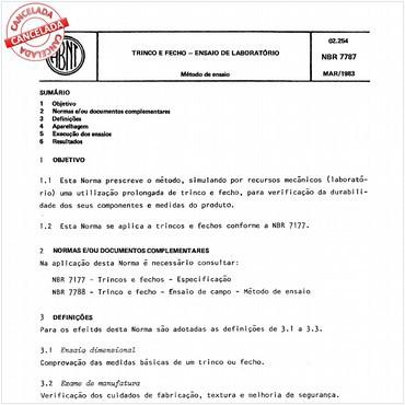 NBR7787 de 03/1983