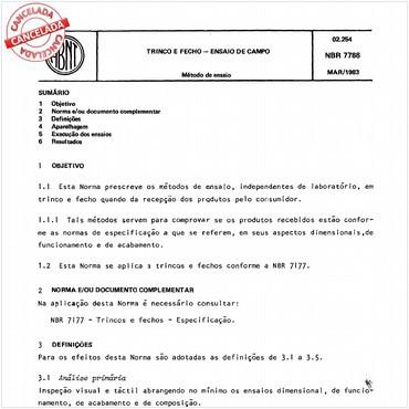 NBR7788 de 03/1983