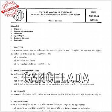 NBR8543 de 09/1986