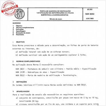 NBR8053 de 06/1983