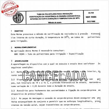 NBR10565 de 12/1988