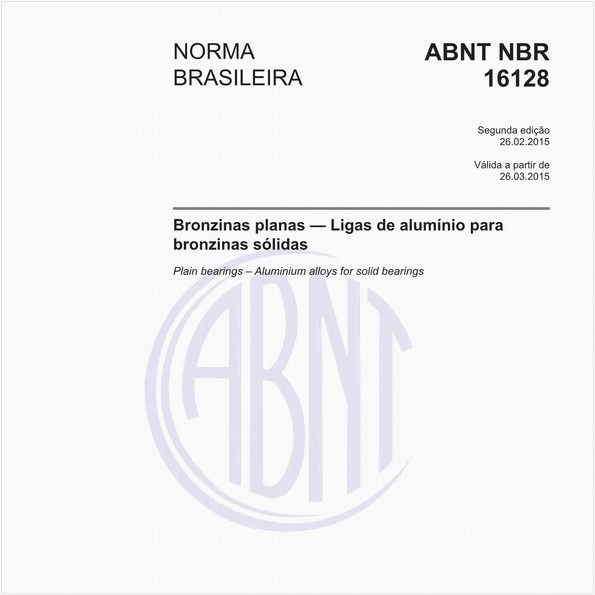 Bronzinas planas - Ligas de alumínio para bronzinas sólidas