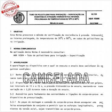 NBR10566 de 12/1988