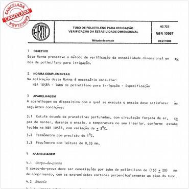 NBR10567 de 12/1988