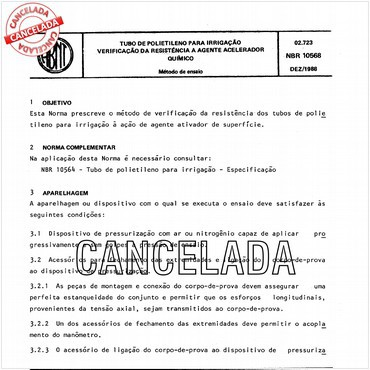 NBR10568 de 12/1988