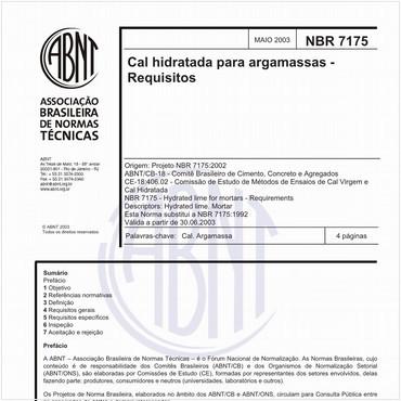 NBR7175 de 05/2003