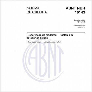 NBR16143 de 01/2013