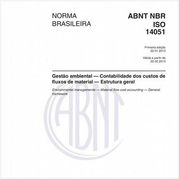 NBRISO14051 de 01/2013