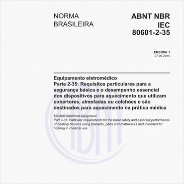 NBRIEC80601-2-35 de 01/2013