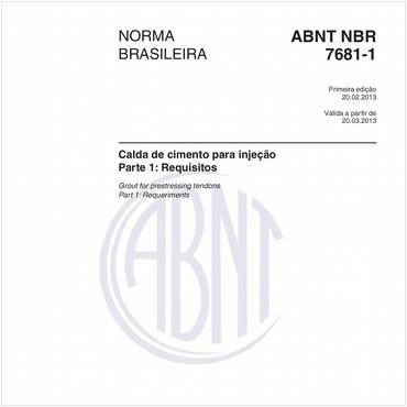 NBR7681-1 de 02/2013