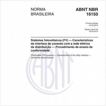 NBR16150 de 03/2013
