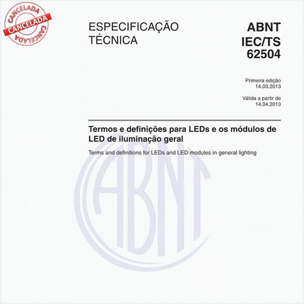 Termos e definições para LEDs e os módulos de LED de iluminação geral