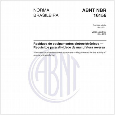 NBR16156 de 03/2013