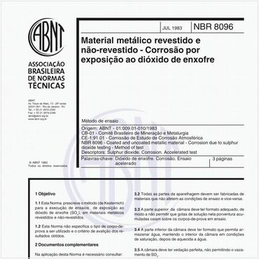 NBR8096 de 07/1983