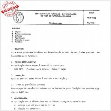 NBR8102 de 07/1983