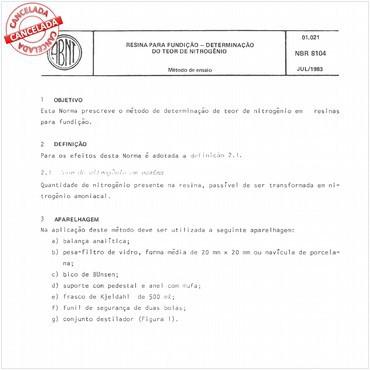 NBR8104 de 07/1983