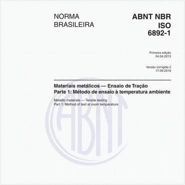 NBRISO6892-1 de 04/2013