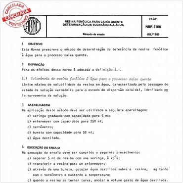NBR8106 de 07/1983
