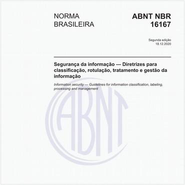 NBR16167 de 04/2013