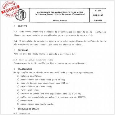 NBR8107 de 07/1983