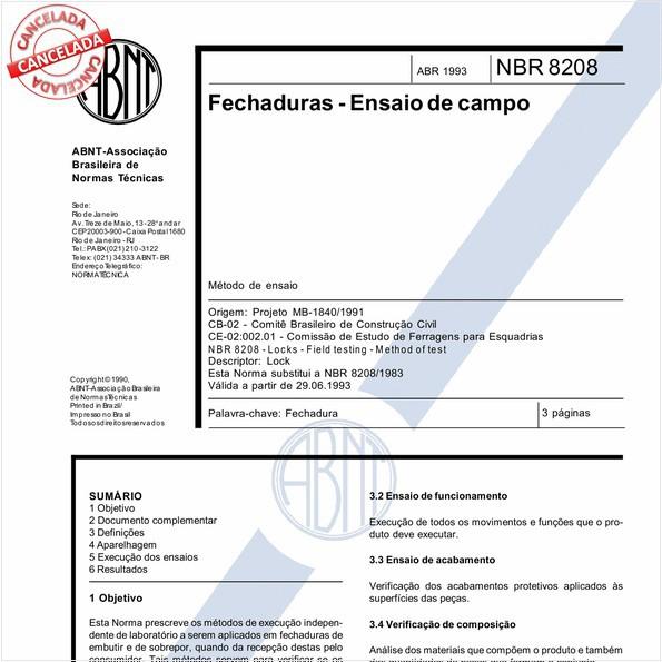 NBR8208 de 11/2017
